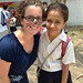 Courtney with a 6th grade student at the school - Honduras cross-cultural