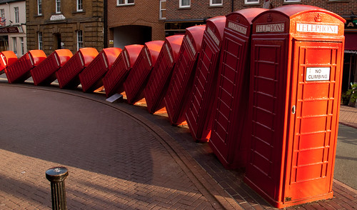 Tumbling phone boxes