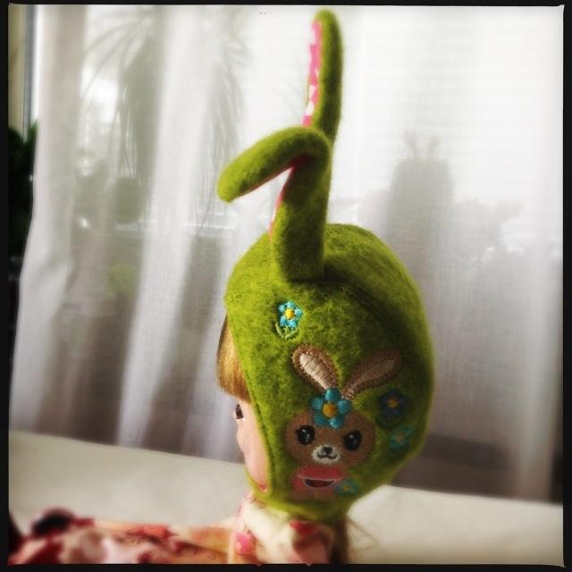 Funny bunny helmet side view final version !