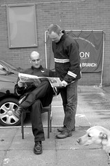 i read the news today... (Broady - Salford art and photography) Tags: life street people manchester fire union documentary strike salford firedepartment firefighters firebrigade industrialaction broady stephenbroadhurst salford25913 fireservise