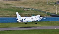 Saab 340 G-LGNH IMG_9371 (Ronnierob) Tags: shetland saab340 loganair flybe sumburgh glgnh virkiepool
