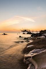 Costa dei Trabocchi 2 - Abruzzo, Italy (Francesco Giusto) Tags: light sunset sea italy colour water long exposure abruzzo