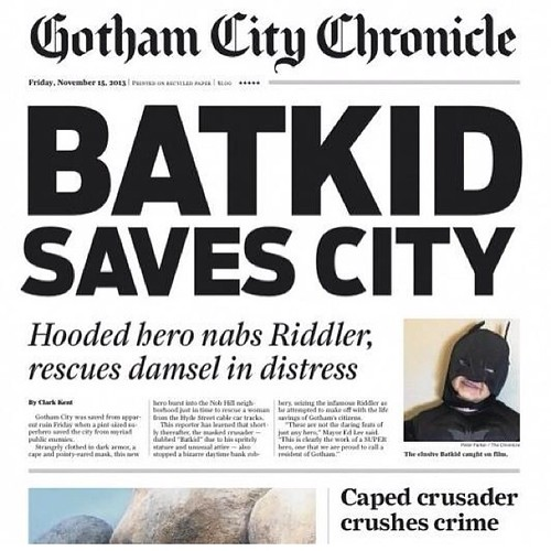 The best day in a long, long time. #batkid