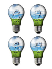 alphabet and number in the bulb (ARZTSAMUI) Tags: park blue light sky cloud sun white plant color green nature bulb leaf bush colorful branch natural bright image symbol vibrant object character sunny evergreen single letter alphabet concept decor isolated