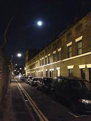 IMG_6718 (Tom.M.Hamilton) Tags: cameraphone street moon london night streetlights deserted iphone