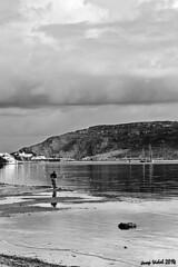 Fornells, Menorca . Febrer 2014 (50josep) Tags: blackandwhite beach canon playa wb amanecer invierno hombre menorca biancoenero whiteandblack mercadal canon40d 50josep geomenorca geomenorcaonlythebest