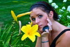 A flower child in the literal sense (rhiannon.hardy) Tags: goofy yellow flowerchild focused yellowlily inthezone asiaticlily