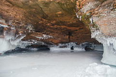 Winter Sea Caves (Sweet Alize) Tags: sea vacation lake wisconsin island superior roadtrip caves coldweather lakesuperior icicles apostleislands icecaves bayfield belowzero extremecold 2014 apostle seacaves cornocopia apostleisland northwisconsin meyersroad hayfieldcounty