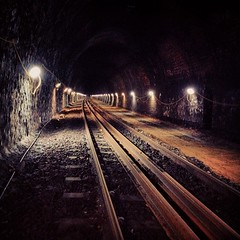 Asfordby Tunnel (Sam Tait) Tags: old test lights track leicestershire rail railway tunnel link dig renewal 2014 dalby serco asfordby