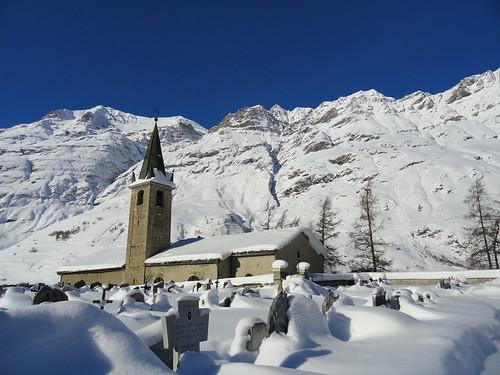 Bessans, église et chapelle © D.Dereani, Fondation Facim