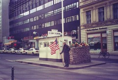 "Checkpoint Charlie, Berlin • <a style=""font-size:0.8em;"" href=""http://www.flickr.com/photos/9840291@N03/13911707978/"" target=""_blank"">View on Flickr</a>"