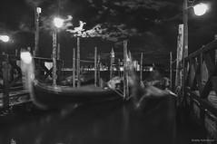 (Andrey Avtomonov) Tags: venice reflection water night boat gondola venezia