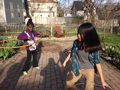 Hula hoop hooping girls backyard spring time sunny (stevendepolo) Tags: girls hoop spring backyard time hula sunny grand rapids hooping qiqi lourdie