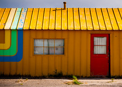 rainbow colors (Sam Scholes) Tags: blue red building green yellow utah intense colorful bright greenriver