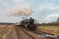 48624-Charter-p2-95 (Steven Reid - Reid Photographic) Tags: heritage train smoke engine railway steam locomotive 280 lms greatcentralrailway gcr 8f stanier 48624 8fclass