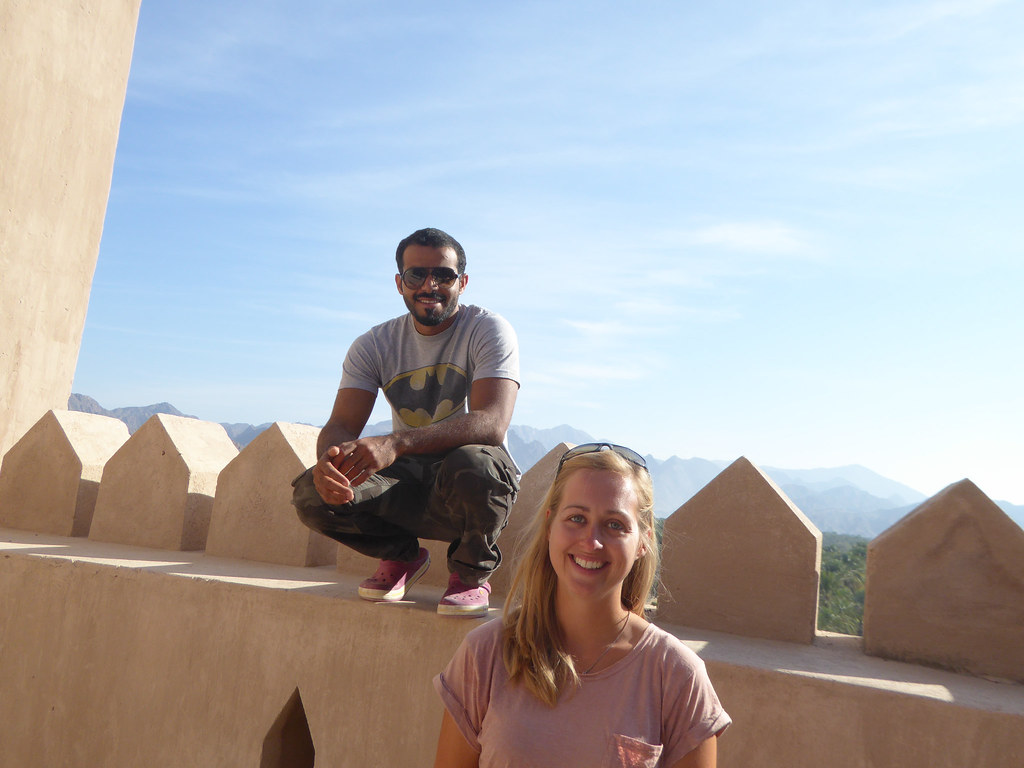 Hamed and Claire at Rustaq