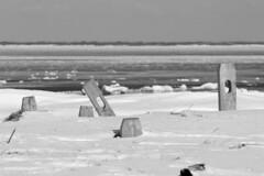 Kayak Racks on Ice (brucetopher) Tags: ocean sea snow seascape cold ice beach water landscape bay surf waves wind atlantic shore beaches iceberg frigid atlanticocean bodiesofwater saltwater snowscape iceflow winterlandscape winterscene capecodbay packice coldwinterlandscape