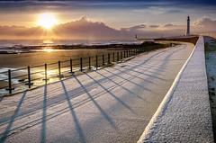 Seaburn Promenade, Sunderland (DM Allan) Tags: winter snow sunrise coast promenade sunderland roker seaburn wearside