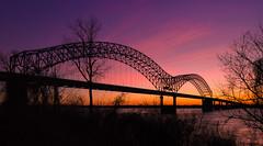 _DSC0702 (goldenticket76) Tags: bridge sunset river memphis tennessee mississippiriver hernandodesoto memphisbridge