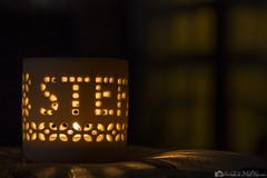 Prove di Bokeh (antoniomolitierno) Tags: window night canon eos lights candle bokeh atmosphere finestra luci atmosfera candela notte luce 1100d