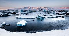 Jökulsarlon 1 (RaKra42) Tags: winter snow ice weather season landscape island landscapes is iceland europe frost seasons glacier wintertime gletscher landschaft landforms jökulsarlon wintertide