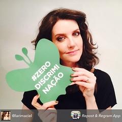 """Larissa Maciel, atriz que interpretou Maysa na minissérie """"Quando Fala o Coração"""", juntou-se ao time de celebridades que apoiam a Zero Discriminação."""