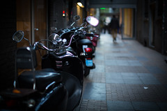 walking by.. (paul.wienerroither) Tags: motorbike dof depthoffield bokeh view perspective amsterdam travel canon 50mm 5dmk3 photography streetphotography light floor focus city mood street