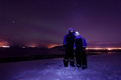 Northern lights Tromso (kekaneshrikant) Tags: sky white norway dark stars lights aurora northernlights tromso canon450d