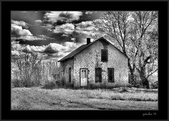 Roadside Abandoment (the Gallopping Geezer 3.5 million + views....) Tags: bw white house black abandoned home rural canon blackwhite decay faded worn weathered backroads hdr decayed geezer dwelling 24105 2016 5ds