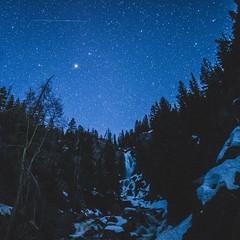 Night over Fish Creek Falls