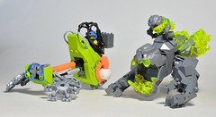 BZZZ-09 Speeder and Rock-nom-nom (Simply Complex Simplicity) Tags: from bike monster rock power lego bricks contest themed speeder miners fbtb bothans