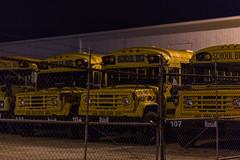 5/365 (Benjamin Ford) Tags: school bus yellow night canon dark dallas high texas 85mm garland iso f18 ef 6d