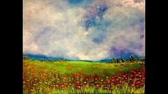 Nuvole e papaveri (Artlynow galleria d'arte) Tags: quadro paesaggio artista papaveri acrilico pittura dipinto nuvoleepapaveri elenatsoulfidis