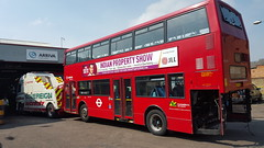 Arriva VLA129 (LJ05GLZ) Enfield bus garage 12th May 2016 (BristolRE2007) Tags: bus london buses towtruck enfield londonbus arriva arrivalondonnorth