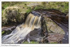 Nether North Grain, Derbyshire (Paul Simpson Photography) Tags: longexposure nature water grass weather waterfall nationalpark spring stream stones derbyshire peakdistrict highpeak flowingwater brownwater photosof imageof photoof imagesof sonya77 paulsimpsonphotography april2016