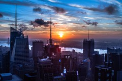 On top of The Rock in New York City! (D2 Photography) Tags: city nyc newyorkcity sunset cloud newyork architecture clouds cities thecity sunsets cloudporn
