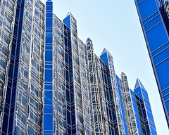 Lines of Reflection (R.A. Killmer) Tags: city blue sky glass architecture skyscraper reflections downtown pittsburgh cityscape steel blurred illusion ppg
