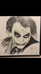 The best joker I'd say. (davidjay6) Tags: pencil drawing charcoal selftaught batman joker graphite gothamcity thejoker portraitdrawing heatheledger