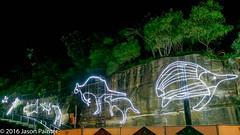 Sydney Rock Engraving Cliff Lanterns (Japester68) Tags: city light sculpture animal festival rock night zoo outdoor walk sydney vivid australia event engraving nsw aus 2star