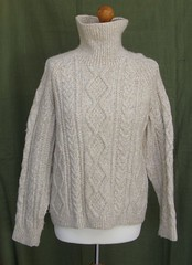 Aran turtleneck wool sweater (Mytwist) Tags: irish classic wool fashion vintage neck fisherman knitting hand cream ivory knit craft style cable passion jumper knitted polo aran pullover authentic textured laine vouge cabled rollneck rollkragen aransweater mytwist aranjumper aranstyle turtlemeck lunar10128