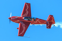 Jacquie Warda in her Extra 300L (Norman Graf) Tags: plane airplane aircraft airshow extra aerobatics davismonthanafb 300l jacquiewarda jacquiebairshows jacquiebaby theabingdonco n345jb 2016thunderlightningoverarizona