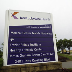 Healthy Lifestyle Center Dumping Ground (EX22218 - ON/OFF) Tags: blue red white green grass speed kentucky cancer mostinteresting louisville dumping hivemind jewishhospital flickriver kentuckyone healthylifestylecenter