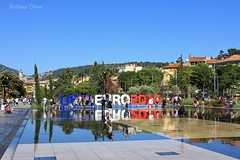 European Football Championship 2016. Nice. France. (Svitlana Clover) Tags: street city blue red summer sky people white black france water fountain football championship nice europe resort journey canoneos550d