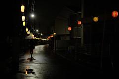 MATSURI is near rainy ver.2/ (kurupa_m) Tags: street rain festival night lantern     xt10