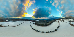 360 Winter Panorama in the Black Forest (Nolle15) Tags: winter sunset mountain snow clouds germany deutschland sonnenuntergang wolken berge inspire schwarzwald blackforest kinzigtal ortenau ortenaukreis dji fischerbach