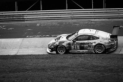 24h Rennen Nrburgring (Tup') Tags: car canon germany lens blackwhite europe body gear places rheinlandpfalz treatment nrburgring canonef70200mmf28lis 24hrennen herschbroich canon5dmarkii karussellturn