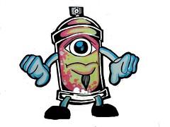 graffiti sticker one eye spray can (marcomacedo3) Tags: cholowiz wizards graffiti characters stickers collabs slaps nazer26 mtsk skulls clowns street art paste trade cartoons labels sketch spray can