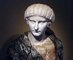 Ancient Rome. Portrait of Agrippina The Younger, 1st century AD (mike catalonian) Tags: portrait female marble ancientrome 1stcenturyad agrippinatheyounger
