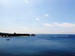 Senggigi Beach (yusuf ks) Tags: sky seascape beach nature clouds indonesia landscape island boat awan lombok pulau beautifulbeach pantai langit alam ntb blacksandbeach senggigi sekotong bluebeach westnusatenggara senggigibeach