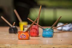 Paint in the 60s (http://www.jeromlphotos.fr) Tags: blue red orange black colors jaune canon rouge eos paint noir outdoor couleurs peinture bleu 28 yelow extrieur 70200 paintbrushes olivet pinceaux 5dmarkii